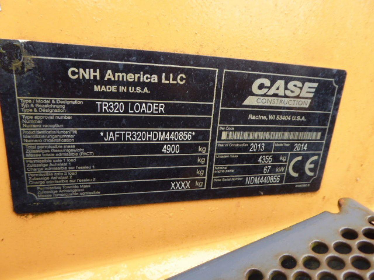 CASE TR320 TRACKED SKIDSTEER LOADER - Picture 12