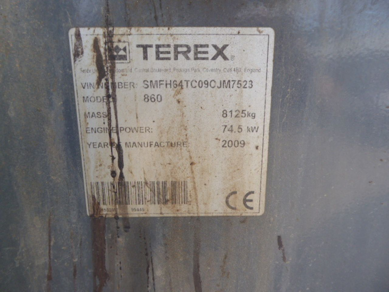 TEREX 860 ELITE SPECIAL EDITION BACKHOE LOADER - Picture 5