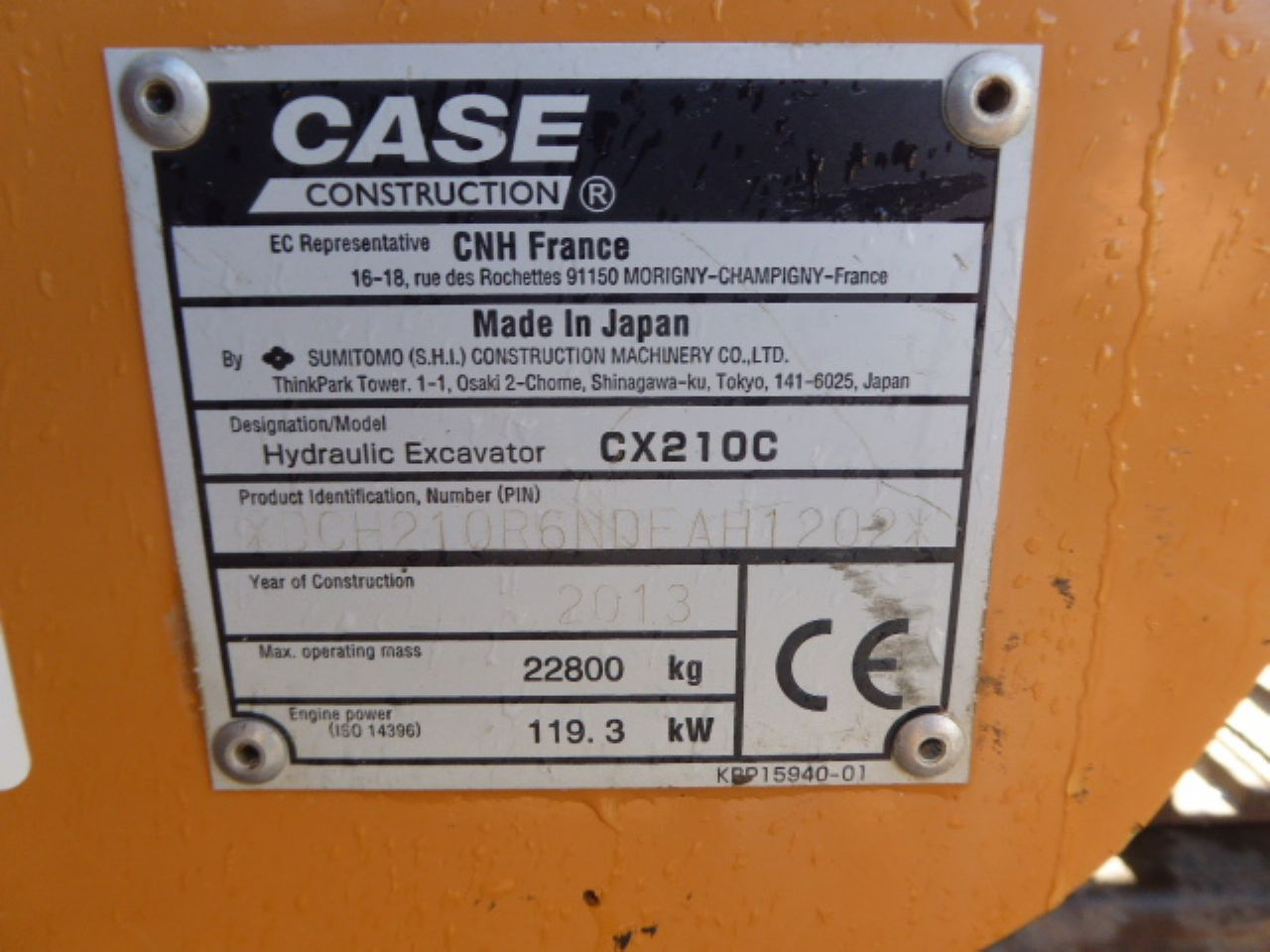CASE CX210C EXCAVATOR - Picture 7