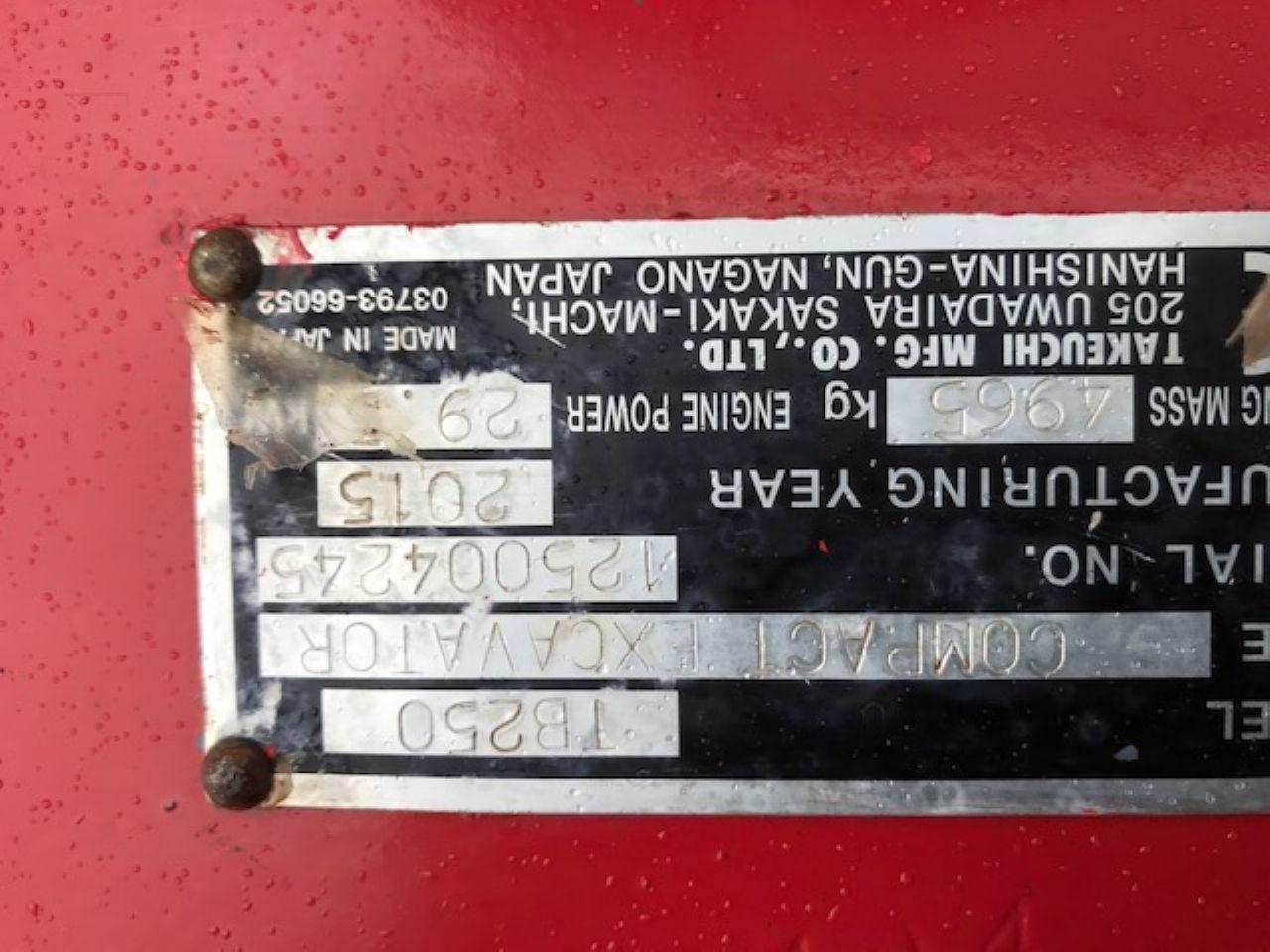 TAKEUCHI TB250 EXCAVATOR - Picture 6