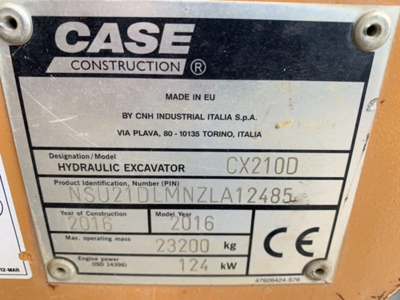 CASE CX210D EXCAVATOR  - Picture 10