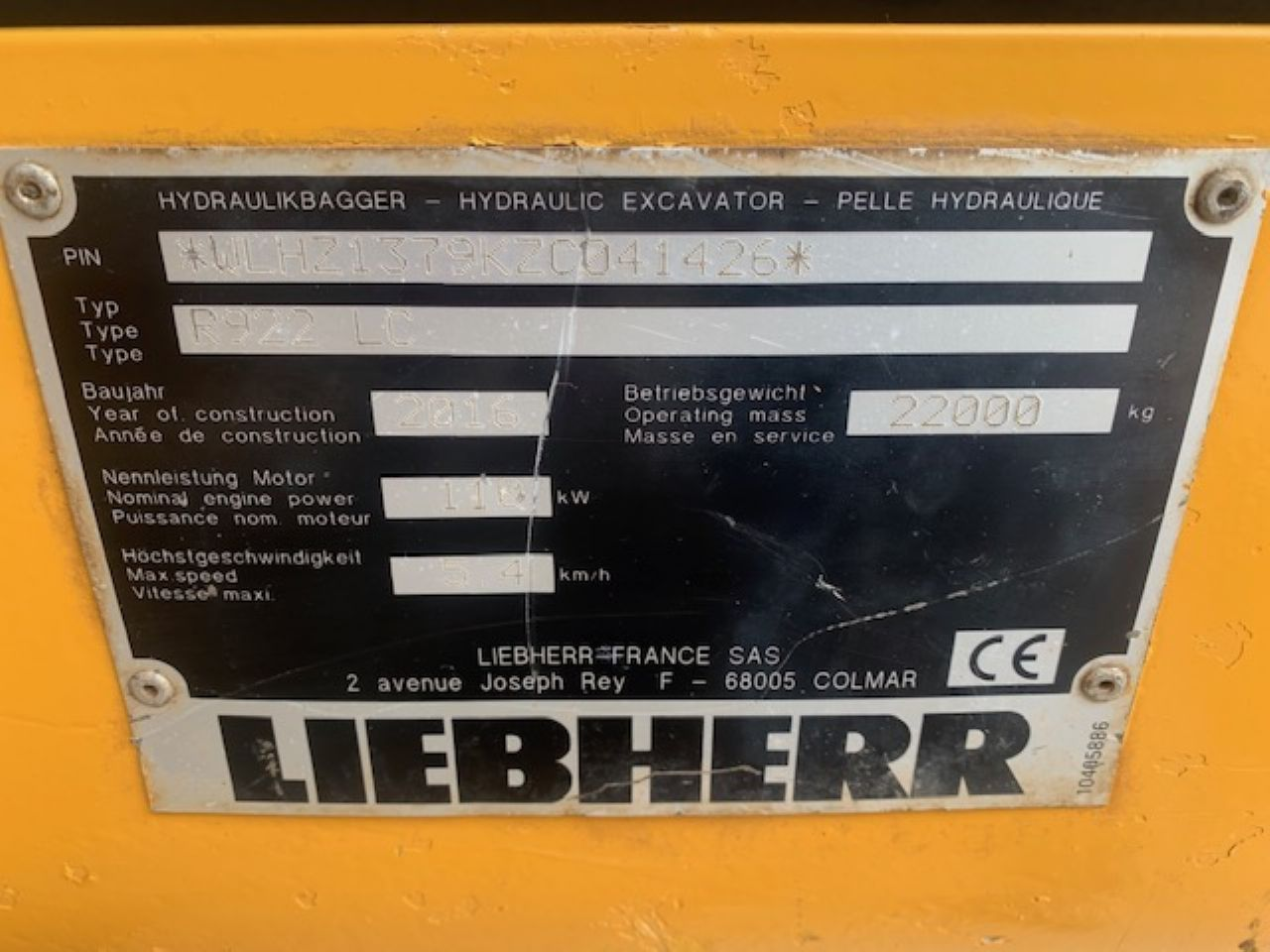 LIEBHERR R922 LC EXCAVATOR - Picture 9