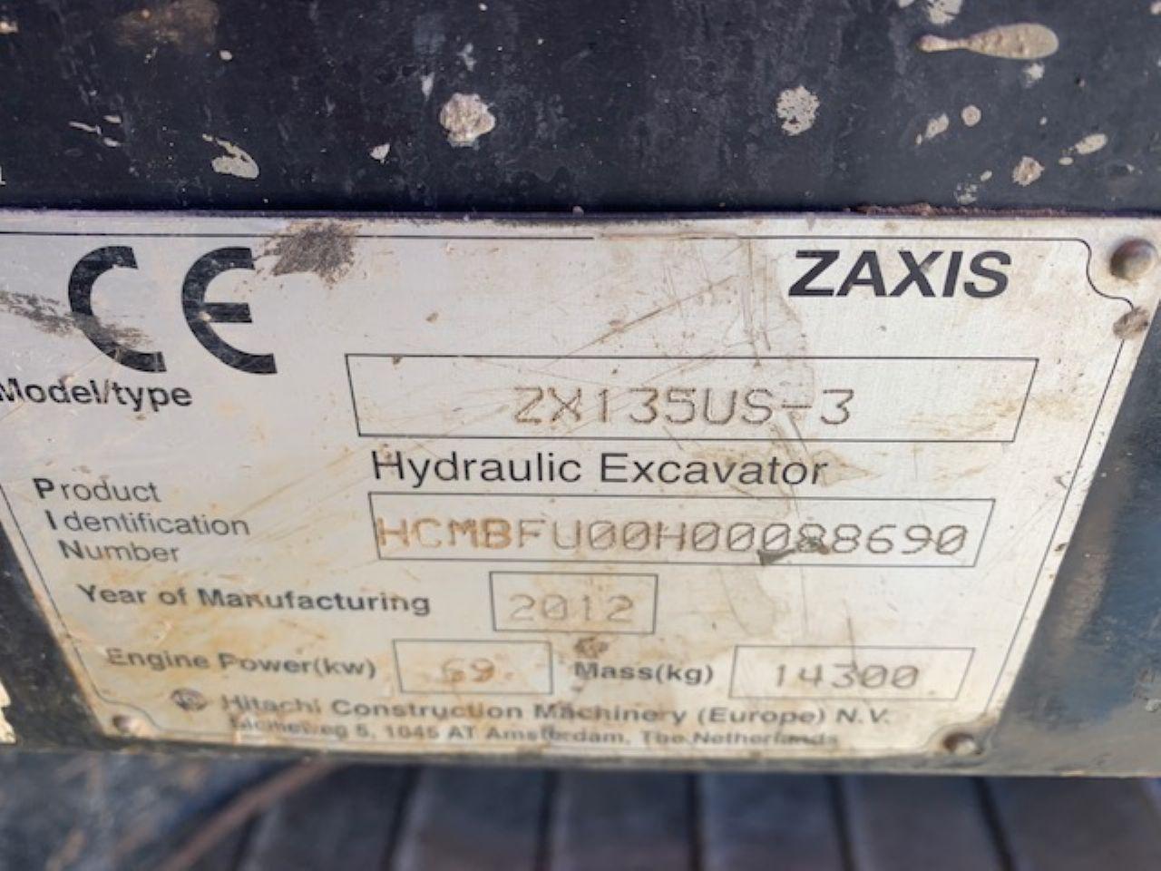 HITACHI ZX135US-3 EXCAVATOR - Picture 7