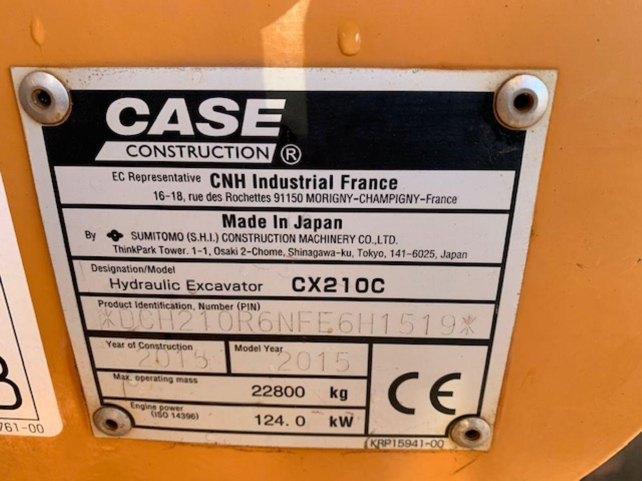 CASE CX210C EXCAVATOR - Picture 4