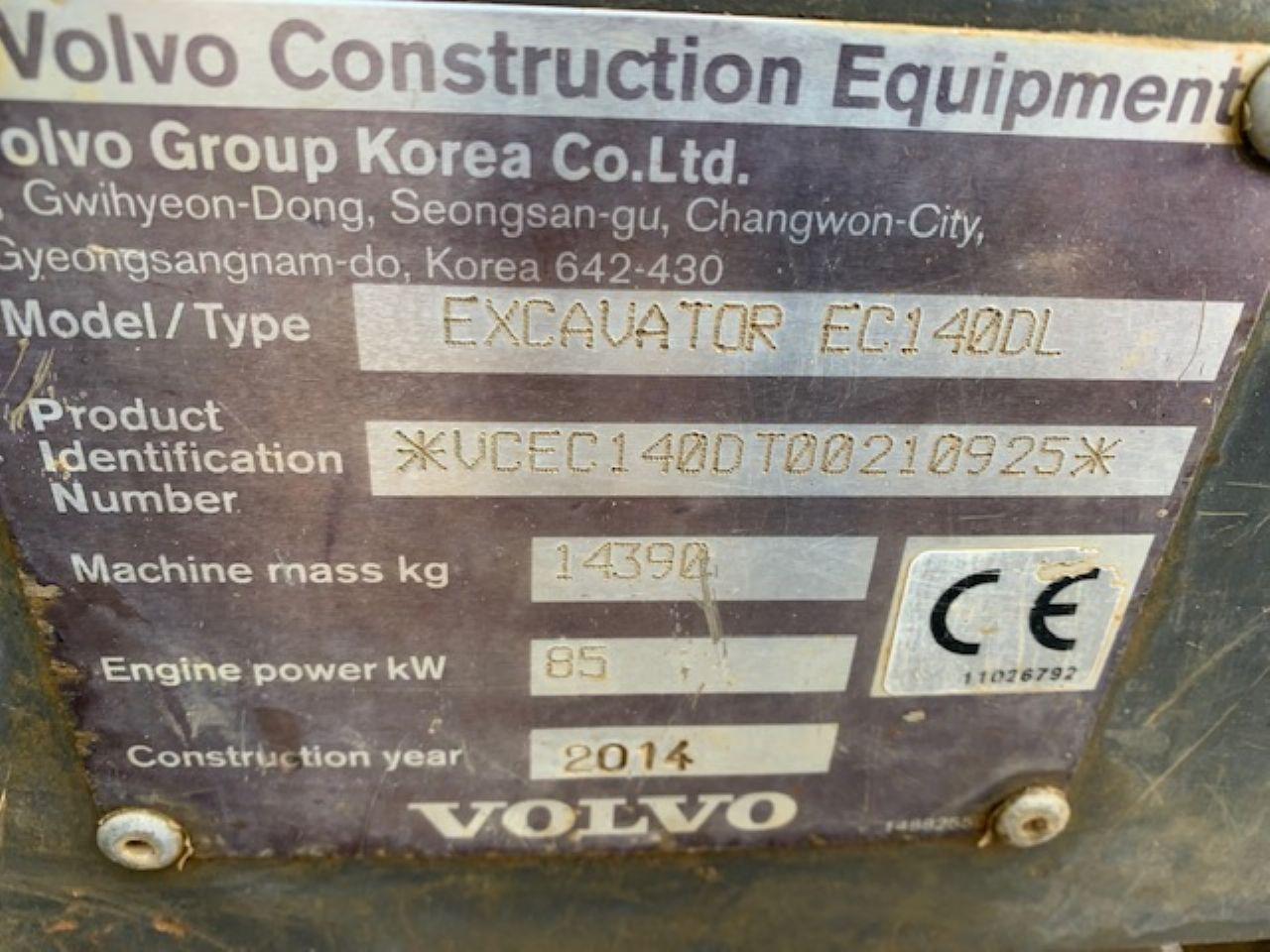 VOLVO EC140 DL EXCAVATOR - Picture 4