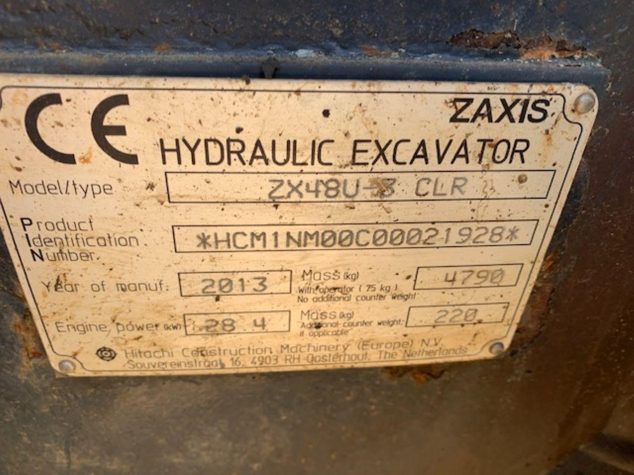 HITACHI ZX48U-3 CLR EXCAVATOR - Picture 8