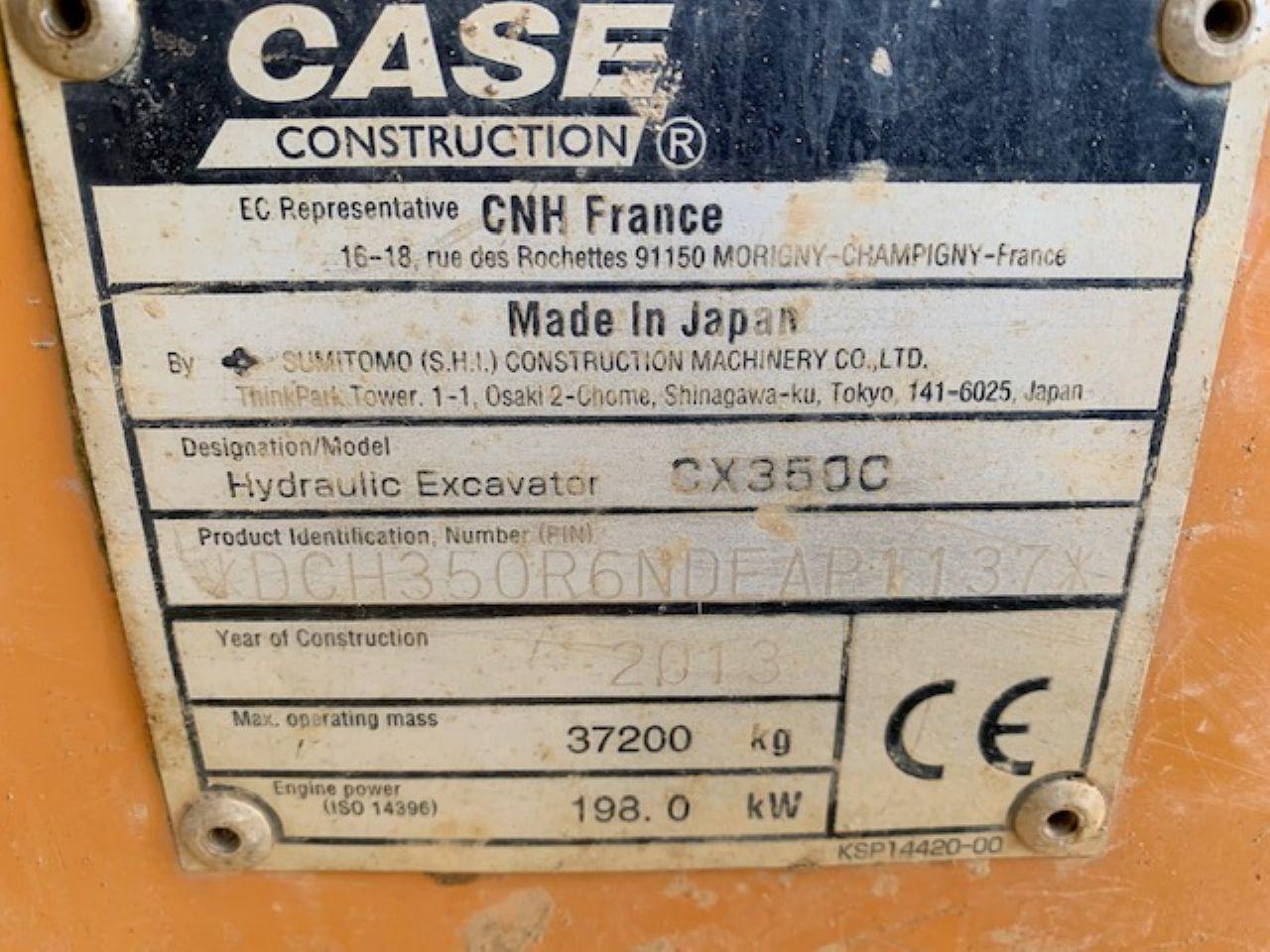 CASE CX350C EXCAVATOR - Picture 7
