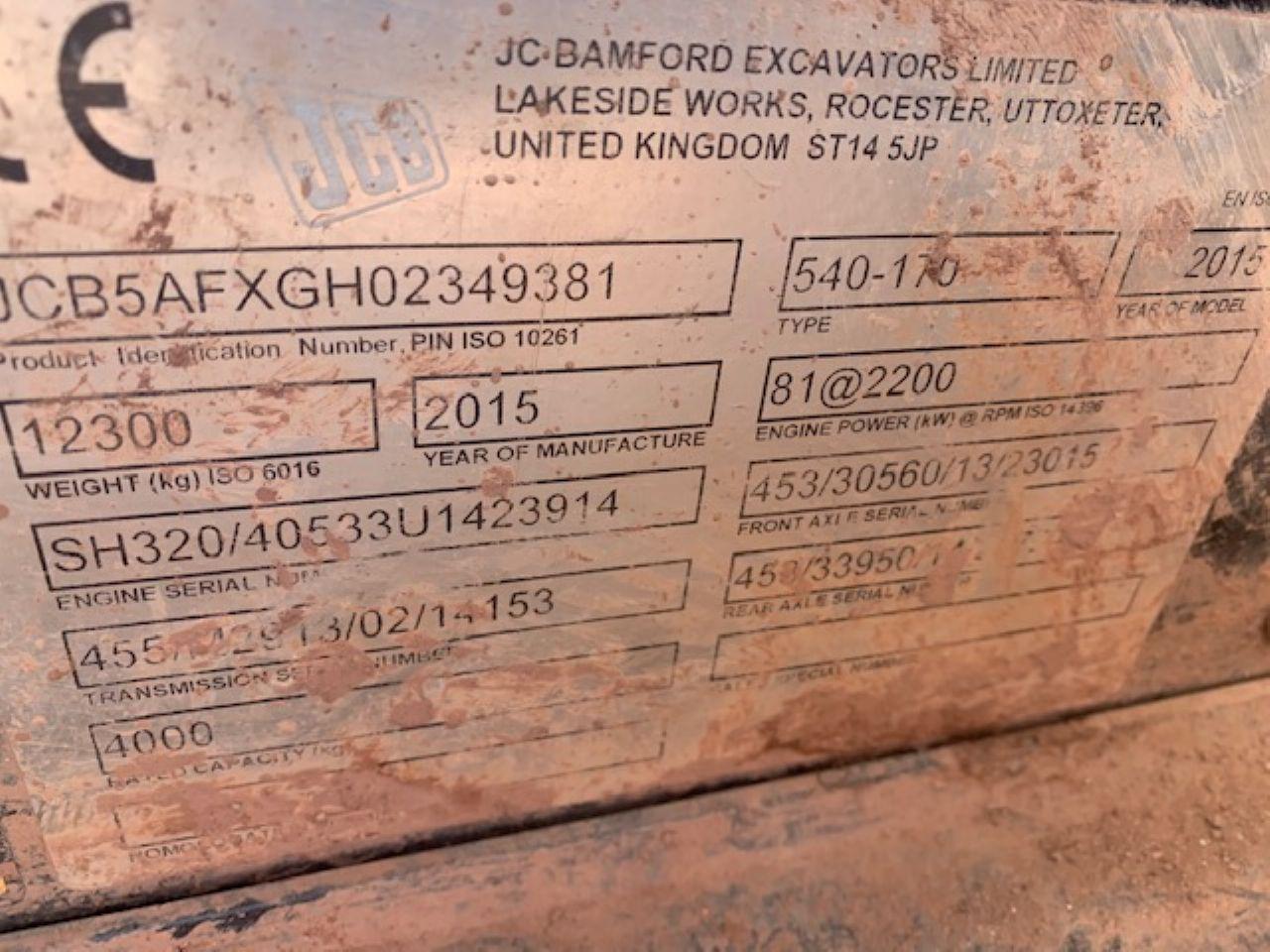 JCB 540-170 TELEHANDLER - Picture 6