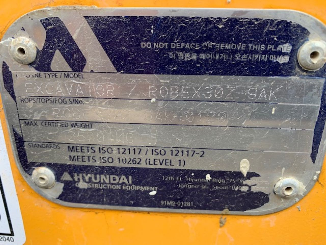 HYUNDAI ROBEX R30Z MINI DIGGER - Picture 7