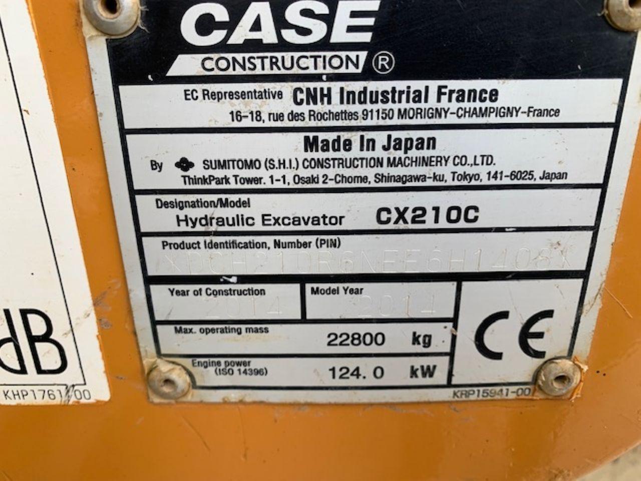 CASE CX210C EXCAVATOR - Picture 7