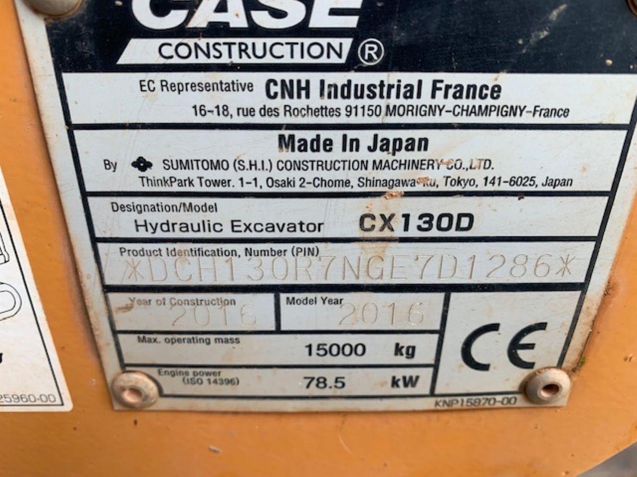 CASE CX130D EXCAVATOR - Picture 7