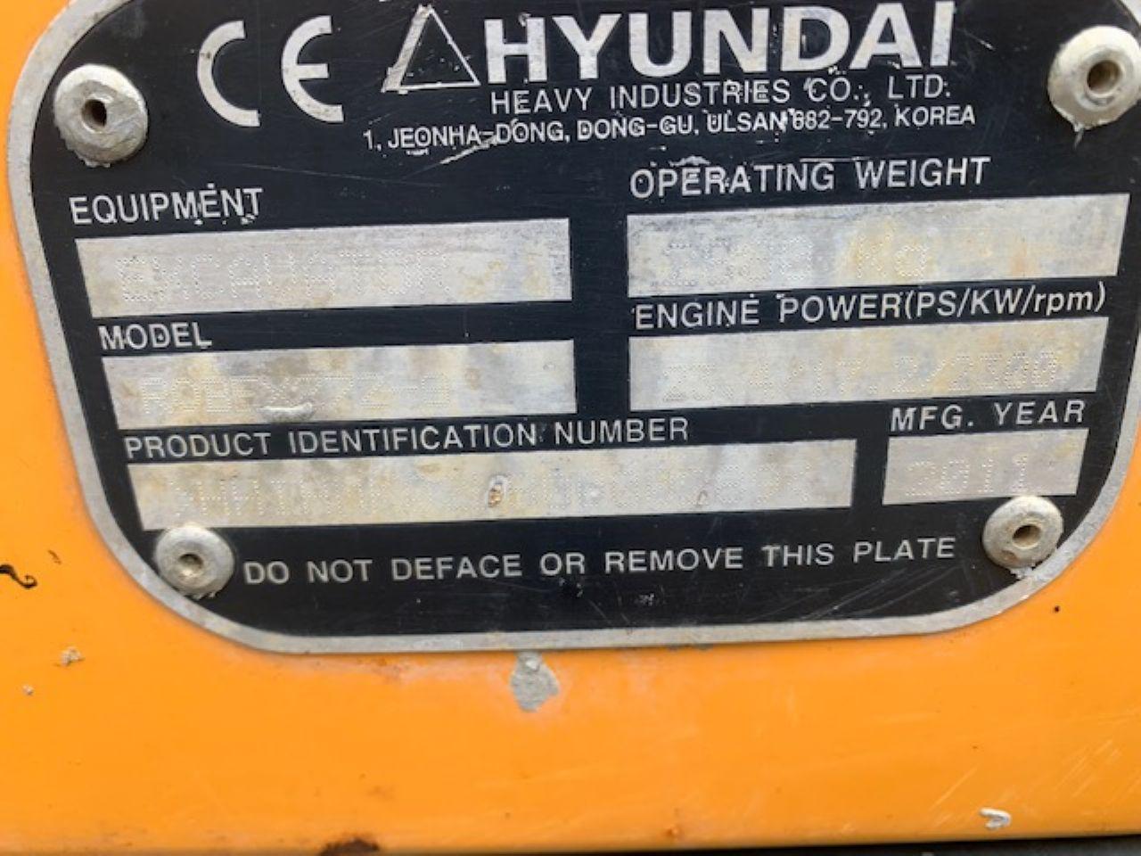 HYUNDAI ROBEX R27Z-9 MINI DIGGER - Picture 7