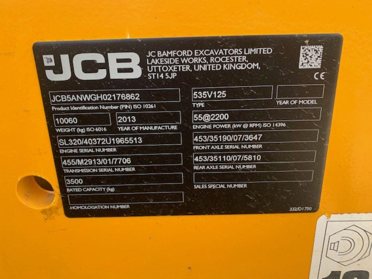 JCB 535-125 TELEHANDLER - Picture 5