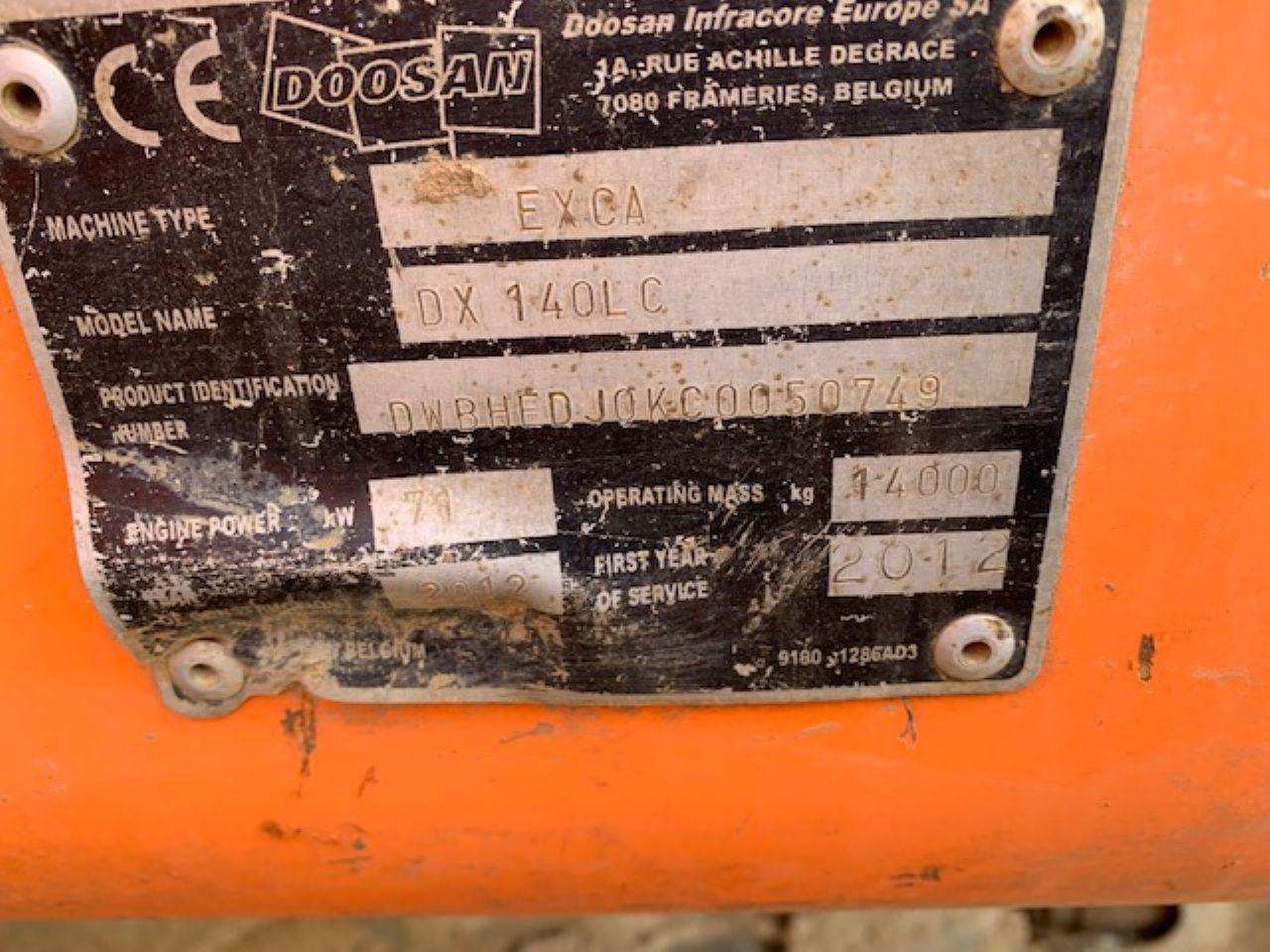 DOOSAN DX140LC EXCAVATOR - Picture 7